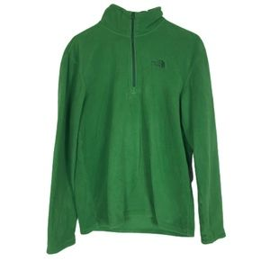 The North Face TKE Glacial 1/4 Zip Green Small